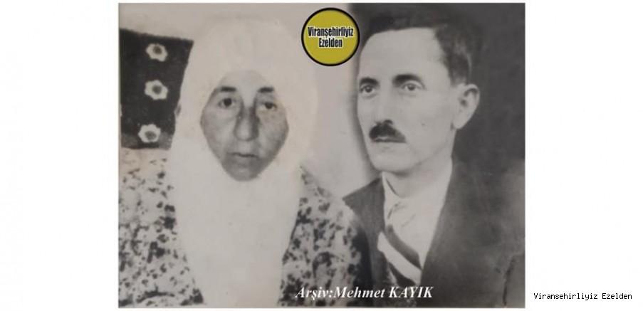 Viranşehir'in 1940'lı Yıllarında Belediye Başkanlığını yapmış, Sevilen, Sayılan İyi İnsan, Eski Belediye Başkanlarımızdan olan, Merhum Hıdır Umar ve Eşi Merhume Suphiye Umar