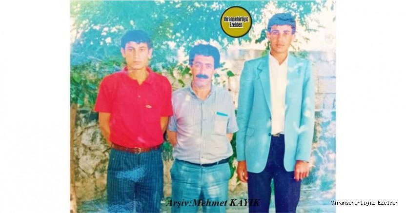 Viranşehir Lisesi Eski Öğrencilerinden Merhum Mehmet Topkan, Biyoloji Öğretmeni Şinasi Kal ve Cuma Aktaş