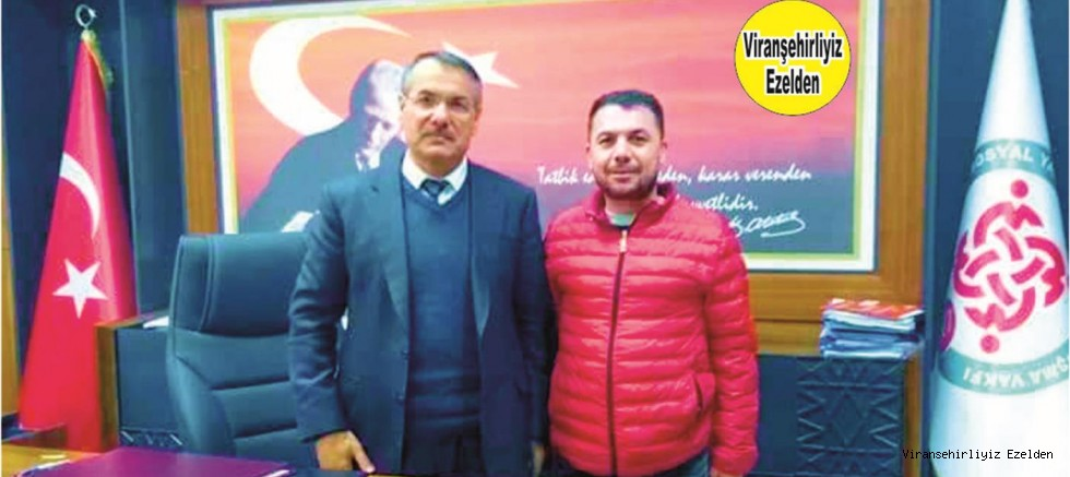 Viranşehir Sosyal Yardımlaşma Dayanışma Vakfi Müdürü Mehmet Özbilek ve Usta Fırıncı Halil Çiftçi
