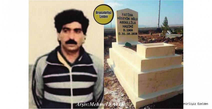 Viranşehirspor'da Yıllarca Başarılı Futbol oynamış, O dönemlerde Büyük Futbol Kulüplerini peşinden koşturmuş, 31 Ekin 2020 Günü Vefat etmiş, Merhum Abdullillah Haşimi